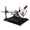 SMD-8TR Trinocular Zoom 7X – 45X Stereo Microscope  package  with Incident Ring Light LED on a Boom Stand for Surface Mount Device Inspection.