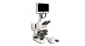 MT6300CL-HD1000-LITE-M/0.3 100X-1000X Trinocular Epi-Fluorescence Biological Microscope with LED Light Source with HD Camera Monitor (HD1000-LITE-M)