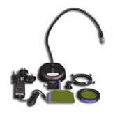 FLM-RB - Stereo Microscope Adapter System with Base Lamp, Mounting Adapter, Light head and Filter Set(Royal Blue)