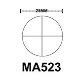 MA523 Cross-line reticle, 25mm diameter