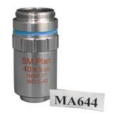 MA644 SM Plan Strain Free 40X Objective ? Polarizing Transmitted Brightfield Finite Strain Free Polarizing Objective - ML9900, ML9400, ML9700