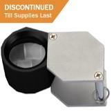 MG600/15 Diamond loupe 10X triplet, 21mm diameter hexagonal, black anodized