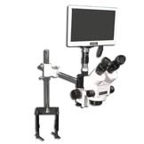 "EMZ-8TR + MA502 + F + S-4500 + MA151/35/03 + HD1500MET-M (WHITE) (7X - 45X) Stand Configuration System, Working Distance: 104mm (4.09"")"