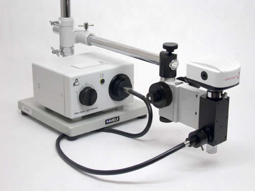 VM Series on S4100 with fiber optic epi-illumination and CC2100 Camera