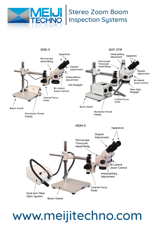 Stereo Zoom Boom Microscope