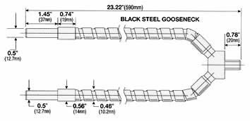 Black Steel Gooseneck