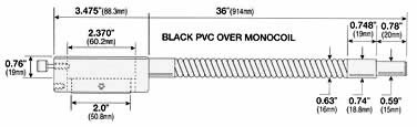 Black PVC over Monocoil